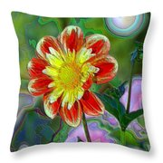 A Blooming Smile  Throw Pillow