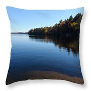 A Blue Autumn Afternoon - Algonquin Lake Tranquility Throw Pillow