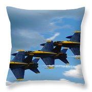 A Blue Streak Throw Pillow