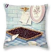 A Blueberry Tart Throw Pillow