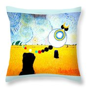 A Blustry Day In Wheatshire Throw Pillow