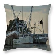 A Boat Named Cyclone Throw Pillow