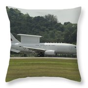 A Boeing E-7a Wedgetail Of The Royal Throw Pillow
