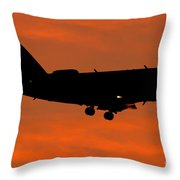 A Bombardier Challenger Cl-600 Private Throw Pillow