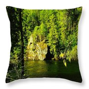 A Boulder Across The Seleway River  Throw Pillow
