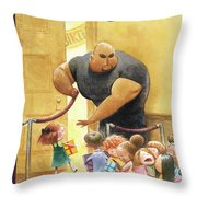Everybody Who's Anybody Throw Pillow