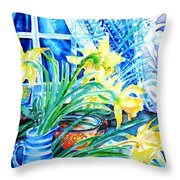 A Bouquet Of April Daffodils  Throw Pillow