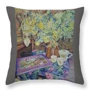 A Bouquet Of Flowers Throw Pillow