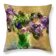 A Bouquet Of Lilac Throw Pillow