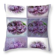 A Bouquet Of Lilacs Throw Pillow