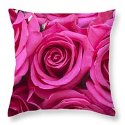 A Bouquet Of Pink Roses Throw Pillow