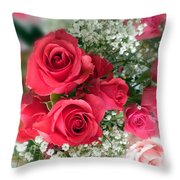 A Bouquet Of Roses For You Throw Pillow