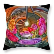 A Bouquet Of Roses Throw Pillow