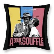 A Bout De Souffle Movie Poster Throw Pillow