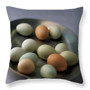A Bowl Of Eggs Throw Pillow