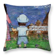 A Boy And His Song Throw Pillow