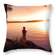 A Boy's Dream Throw Pillow