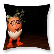 A Brave Eggman. Easter People Series Throw Pillow