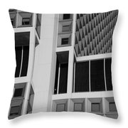 A Break In The Glass In Black And White Throw Pillow