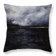 A Break In The Skyline Throw Pillow by Frances Marino