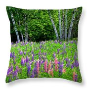 A Breathless Moment Among Lupine Throw Pillow