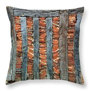 A Brick Wall Design Throw Pillow