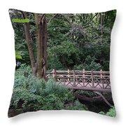 A Bridge In Central Park Throw Pillow