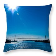 a Bridge with Flare Throw Pillow