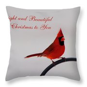 A Bright And Beautiful Merry Christmas To You Throw Pillow