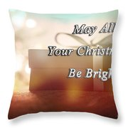 A Bright Christmas Throw Pillow