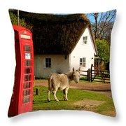 A British Street Scene Throw Pillow