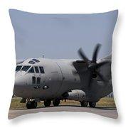 A Bulgarian Air Force Alenia C-27j Throw Pillow