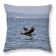 A Bumpy Take Off Throw Pillow