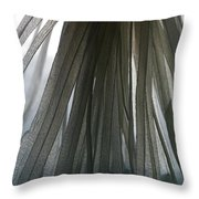 A Bunch Of Tagliolini Pasta Throw Pillow