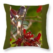 A Bushtit Bird Throw Pillow
