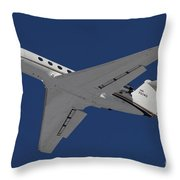 A C-20 Gulfstream Jet In Flight Throw Pillow