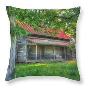 A Cabin In The Woods Throw Pillow