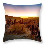 A Cactus Paradise Throw Pillow