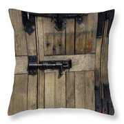 A Cahir Castle Door Throw Pillow