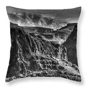 A Canyon Storm Throw Pillow