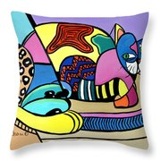 A Cat Named Picasso Throw Pillow