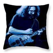 A Cat Under The Blue Stars Throw Pillow