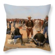 A Cavalryman's Breakfast Throw Pillow