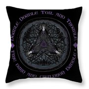 A Celtic Witches' Brew Throw Pillow