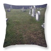A Cemetery In New Salem Throw Pillow