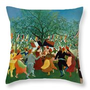 A Centennial Of Independence Throw Pillow