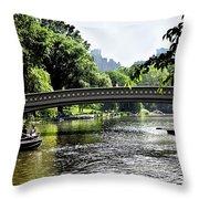 A Central Park Day Throw Pillow
