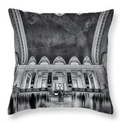 A Central View Bw Throw Pillow