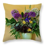 A Chanticleer Spring Bouquet Throw Pillow