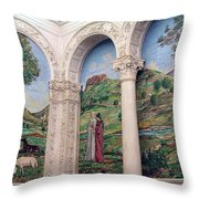 A Chapel's Mosaics Throw Pillow